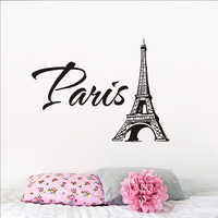 Fashion Eiffel Tower Wall Sticker Paris Tower Picture Pvc Removable Wall Decal For Living Room Bedroom