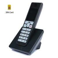Многоязычная GSM Беспроводная Поддержка 2G 3g sim-карта беспроводной телефон с SMS подсветкой красочный экран стационарный телефон для дома