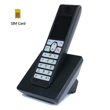Multi-language GSM Cordless Support SIM Card Wireless Phone With SMS Backlight Colorful Screen Fixed Telephone For Home Black