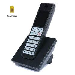 Telefone sem fio do cartão do sim do apoio 2g 3g da multi-língua gsm com tela colorida do luminoso de sms telefone fixo para a casa