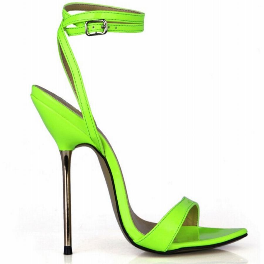 hot sale 2018 ultra sexy metal thin high heels sandals fashion gladiator belt summer women buckle shoes plus large size 35-42 43