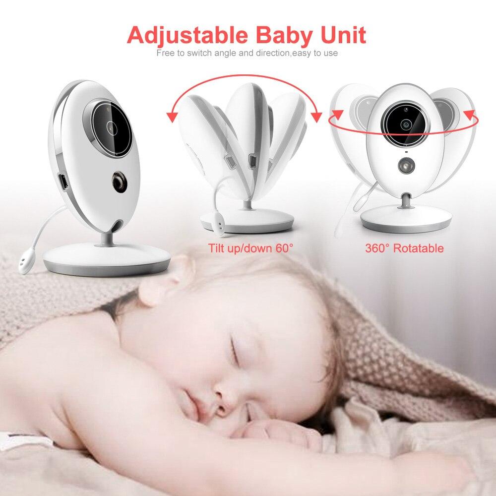 Sans fil LCD Audio vidéo bébé moniteur VB605 Radio nounou musique interphone IR 24h Portable bébé caméra bébé talkie-walkie Babysitter - 4