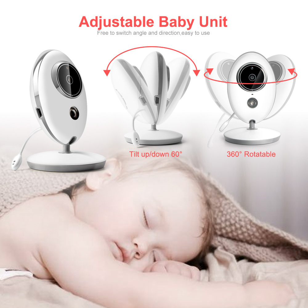Wireless And Portable Baby Monitor Camera With LCD Display And Radio Nanny Music 3