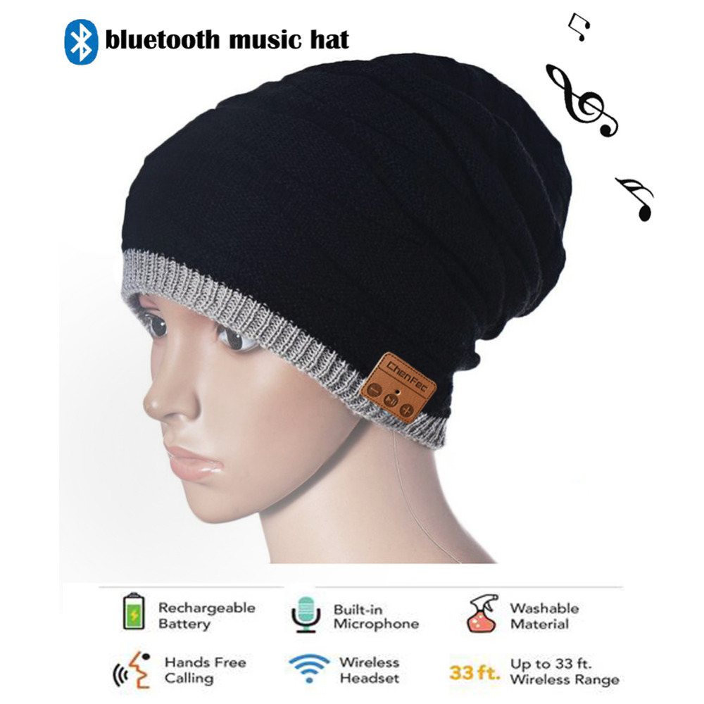 Warm Bluetooth Hat Knitted Winter Beanie hats Music upgrade Bluetooth 4.0 Speaker Sport Women/Men Bluetooth Headset Christmas hot selling magic women s men s winter warm black full face cover three holes mask beanie hat cap wholesale cool accessory