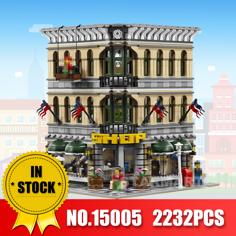 LEPIN 15005 2232Pcs City Creator Grand Emporium Model Building Blocks Bricks action Brick for Children Toy Compatible with 10211 цена