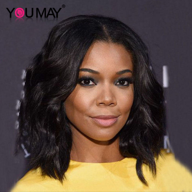 7A Short Bob Full Lace Human Hair Wigs For Black Women Brazilian ... 4ada92a15