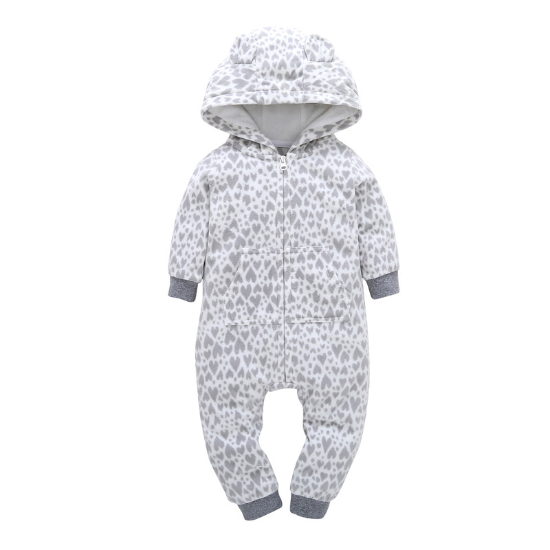 HTB14 c4lVooBKNjSZPhq6A2CXXaN 2018 New Bebes Clothes Newborn One Piece Fleece Hooded Jumpsuit Long Sleeved Spring Baby Girls Boys Body Suits Romper