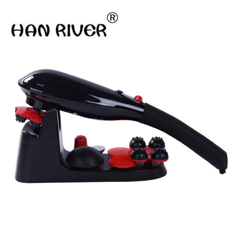 The new handheld portable massage stick plug-in neck massager electric multi-functional massage whole body back rubs hammer handheld electric head neck lumbar back live dolphins massager acupuncture point massage stick am45