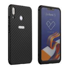 Luxury Aluminum Metal Bumper For Asus Zenfone 5 ZE620KL Case Hard Carbon Fiber Phone Case For Asus Zenfone 5Z ZS620KL Cover Case