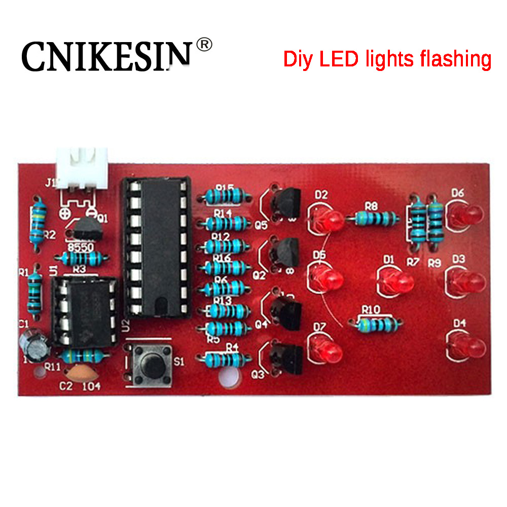 CNIKESIN Diy Electronic Kit Dice LED Interesting Electronic Suite and Electronic Practice Parts Production suite