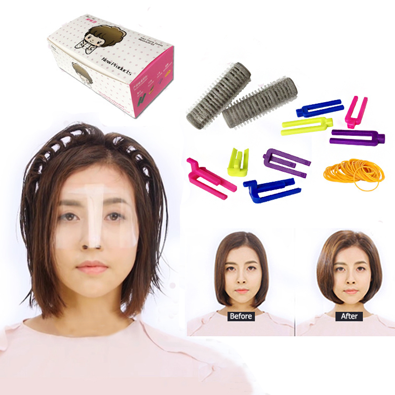 Popular Style Hair Perm Roller With Rubber Band DIY Plastci Fluffy Hair Curler Kit Morgan Curling Hair Roller Clips Tool Set ckeyin 9 31mm ceramic curling iron hair waver wave machine magic spiral hair curler roller curling wand hair styler styling tool