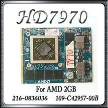 Original For DELL HD7970M HD 7970 HD7970 2GB 216-0836036 DRR5 Graphic Cards GPU VGA 109-C42957-00B Video Card Replacement