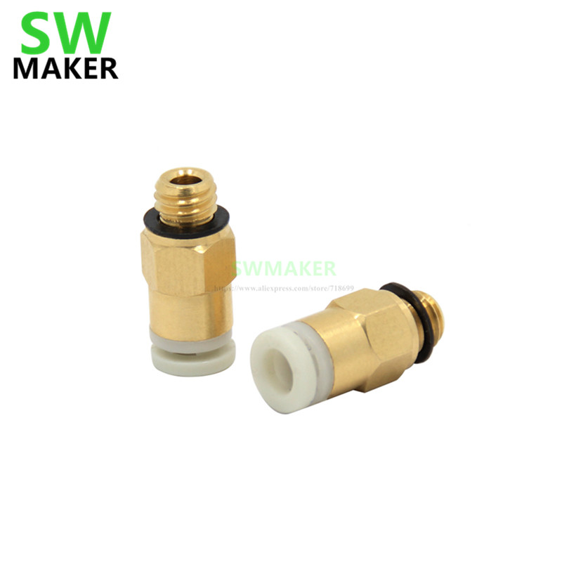 SWMAKER Reprap Bowden Extruder One-touch Pneumatic Fittings Joint 4*2mm M6 KJH 04M6 For 1.75 Mm Creality Cr-10 3D Printer Parts