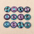 Onwear Handmade Mixed Kaleidoscope eye photo glass cabochon 20mm diy flatback round dome jewelry pendant cameo cabochons