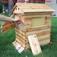 Casa de colmena de madera con 7 Uds., MARCO DE COLMENA, almacén de EE. UU., Reino Unido, envío gratis, colmena de madera, suministro de colmena