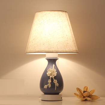 Small Desk Lamps Chinese bedroom bedside lamp simple warm creative wedding romantic lamp WX4131005