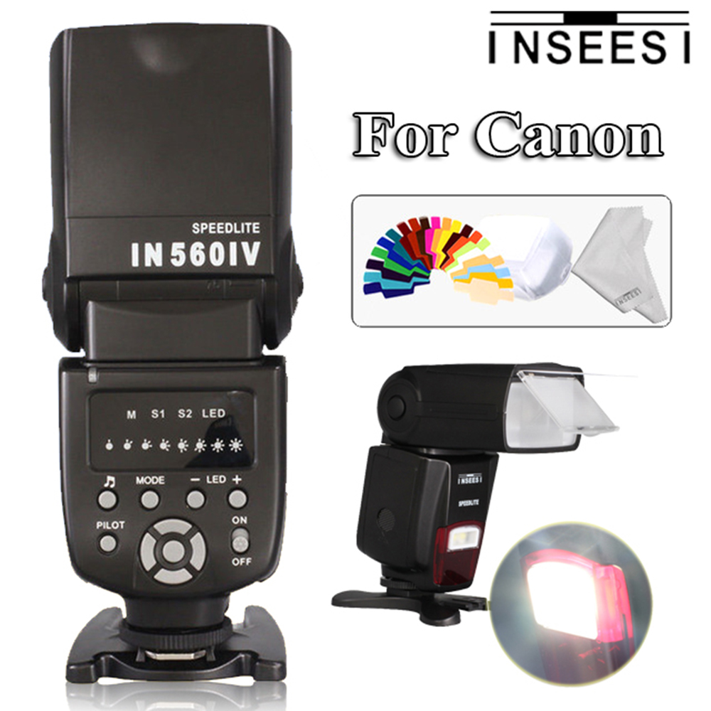 INSEESI IN560IV IN-560IV Wireless Cameras Flash Speedlite For Canon EOS 60D 5D Mark III 450D 1100D 1000D 5D2 550D 30D 50D DSLR цена