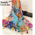 2016 Summer Tassel Scarf Women Bohemia Tassels Bandana Soft Foulard Bufanda Echarpe Women Scaves and Shawls Cheap Sale 019