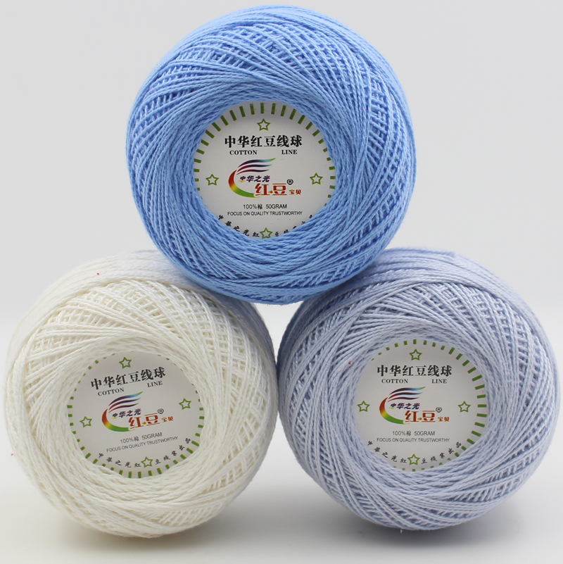 ̀ •́ 4 bolas 100% algodón 0.8mm encaje suave hilo para tejer bebé ...