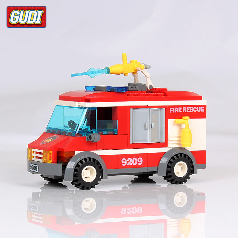 GUDI 156pcs/set Fire Rescue Truck Building Blocks Toys for Children Kids Assembling Educational DIY Bricks Toy Birthday Gifts 163pcs set kids bricks birthday gifts enlighten child educational toys dumper truck diy toys building blocks set