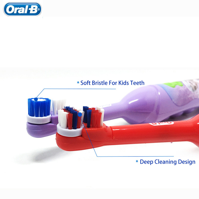 Image 3 - Kids Electric Toothbrush Oral B For Children's Oral Teeth Hygiene With 7200 Times Rotation Vibrator Disney Cartoon Images Oral b-in Electric Toothbrushes from Home Appliances