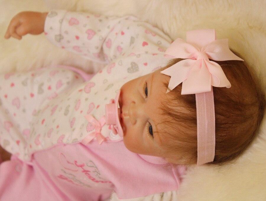 """เด็กทารก reborn ตุ๊กตา reborn handmade ตุ๊กตาไวนิล 22 """"สมจริงซิลิโคนทารก 55cm เด็กวัยหัดเดิน Bonecas สาวเด็กใหม่ปี-ใน ตุ๊กตา จาก ของเล่นและงานอดิเรก บน   3"""