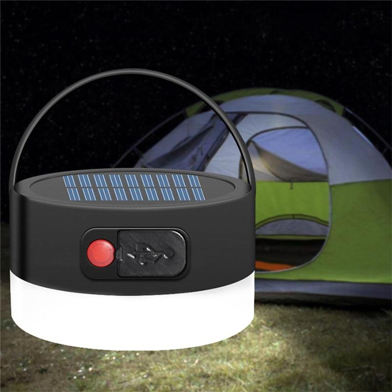 Multi-function Solar Portable Led Camping Lantern 4 Lighting Modes Lights Outdoor USB White Light Lamparas 40JUN604