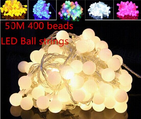 Fée meilleur 50 m 400 scintillant LED boule chaîne de noël lumières nouvel an vacances fête mariage luminaria décoration guirlande lampes