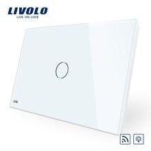 Livolo пульт дистанционного управления, стандарт AU/US, VL-C901DR-11, белая Хрустальная стеклянная панель, настенный светильник, беспроводной дистанционный диммер