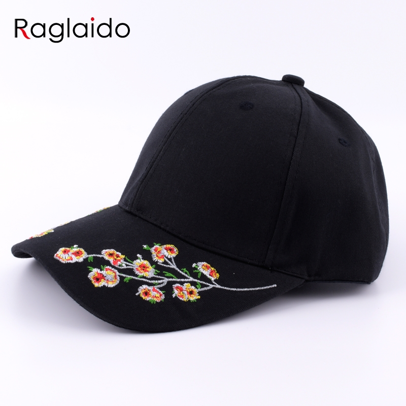 Raglaido Embroidery Baseball Caps Women Men Unisex Brim Snepbeck Casual Cotton Hats Adjustable Hiphop Snapback LQJ01288