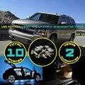 10x Interior Do Caminhão Do Carro LEVOU Kit Dome Mapa Reading License placa de Luz para Suburban ou Tahoe 2007 + Branco/Vermelho/Cristal Azul/Rosa #35