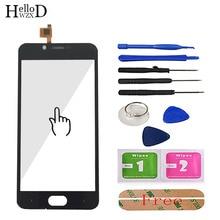 5 mobile mobile tela de toque móvel para doogee tiro 2 toque digitador da tela do painel frontal de vidro touchscreen ferramentas sensor capacitivo adesivo