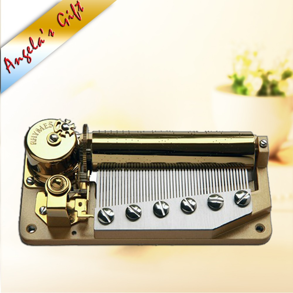 50 notes luxury music box mechanism, musical movements, unusual gifts - Home Decor