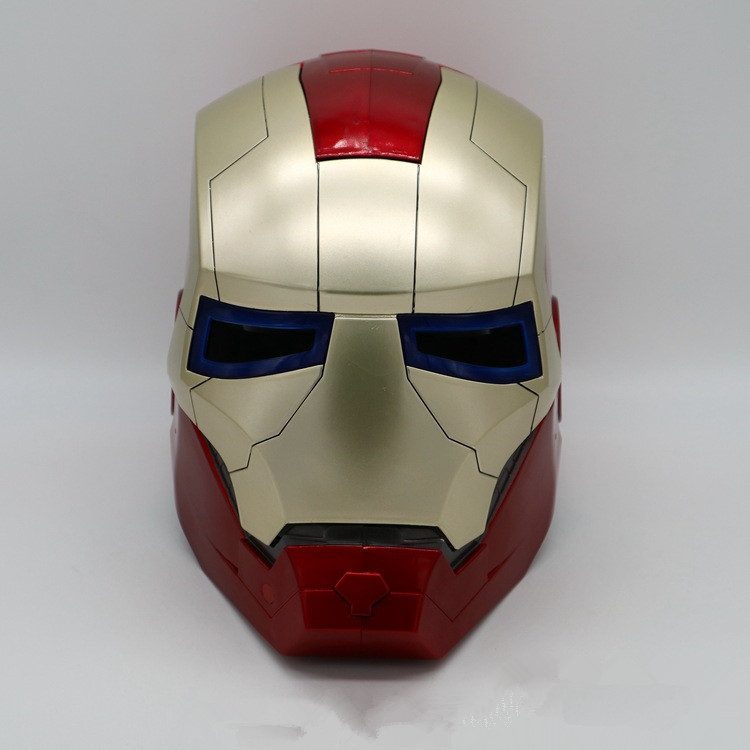 2018 Hot Sale Movie Iron Man 2 Cosplay Costume Superhero Iron Man Halloween Cosplay Prop Iron Man Noctilucan Mask 1:1 Production