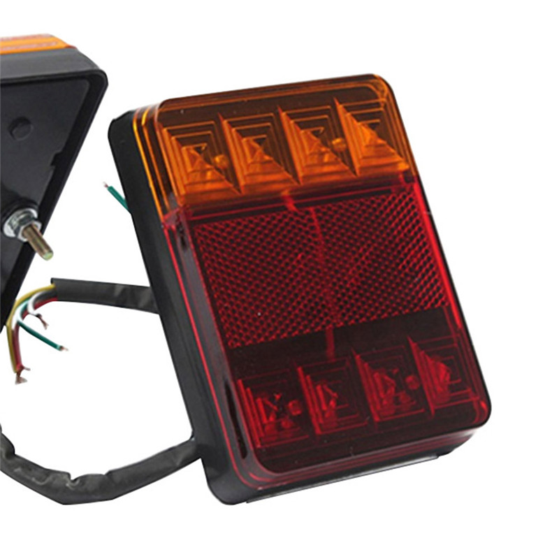 1 Uds. Luz trasera LED de 12V para camión remolque luz trasera LED luces de advertencia luces traseras luz trasera 2019 nuevo en el centro de bomberos escalera Camión grúa helicóptero Compatible legotely ciudad 60216 bloques de construcción juguetes regalo de Navidad
