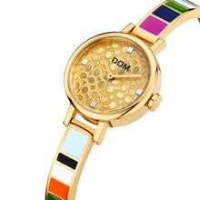 купить DOM Women Watches Luxury Brand Quartz Wrist Watch Fashion Casual Gold Stainless Steel Style Waterproof Relogio Feminino G-1019 по цене 2477.72 рублей