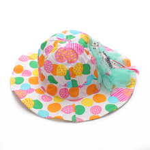 Lace Flower Baby Hat For Girls Cute Panama Baby Sun Hat Princess Baby Bucket Hat Summer Cotton Bucket Cap Baby Girls Clothing
