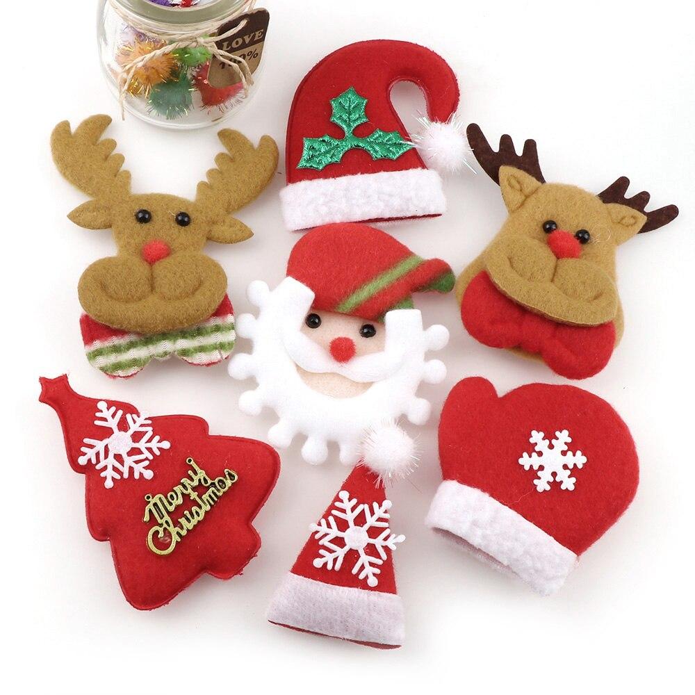 Merry Christmas Ornaments: 10Pcs Merry Christmas Ornament Plush Snowman Hat Headwear