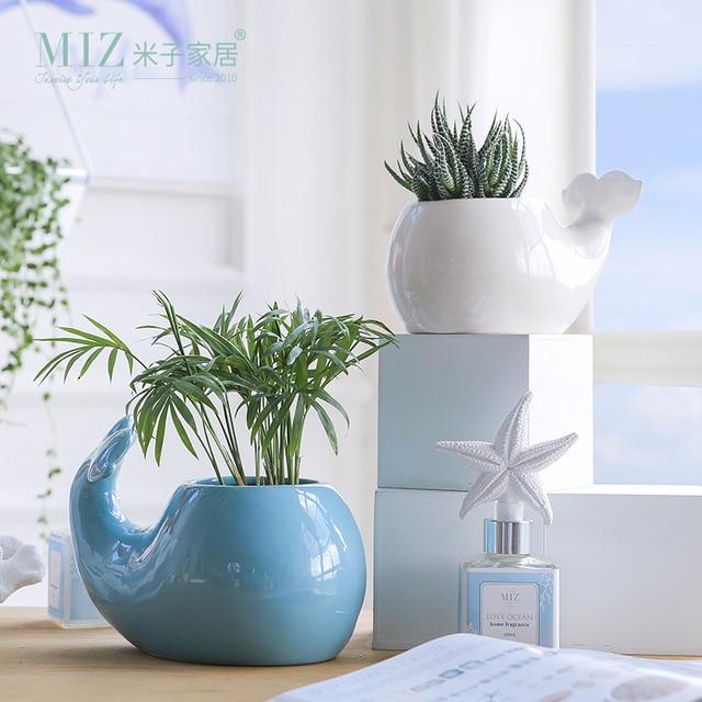 Miz 1 Piece Decorative Plant Pots Ceramic Vase For Home Decoration