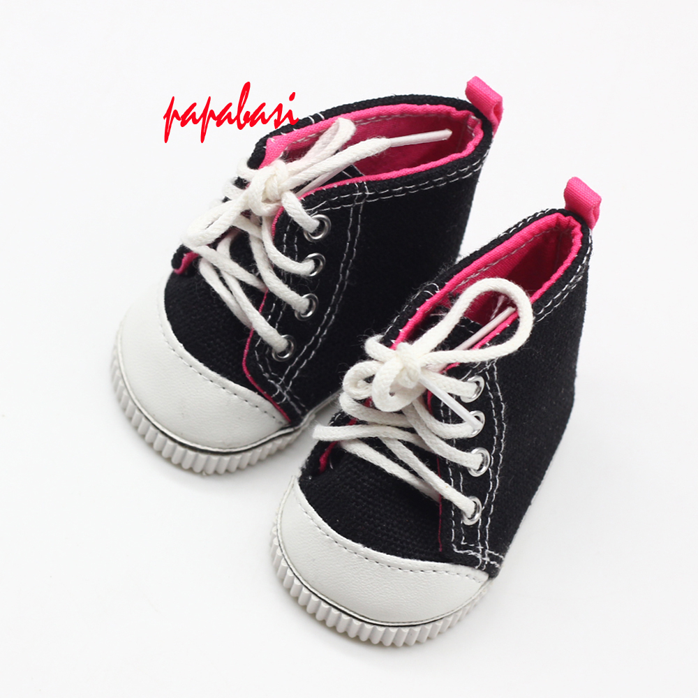 7cm Fabric Canvas Doll Boots For 18cm American dolls Casual Dolls Boots Sneakers Gym Shoes for Russian Textile Doll Toy Accessor