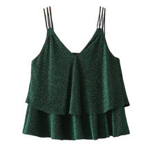 New arrival women bling bling crop top vintage tops sexy camis party tees for woman