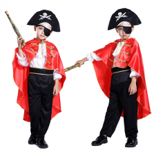 The new Pirates of the Caribbean Halloween masquerade cosplay children costume Captain Jack Boys Clothing