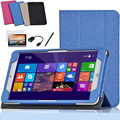 High Quality Leather Case Cover For Onda V820w 8 inch Tablet Magnetic Folio Case Flip Stand Cover + Screen Protectors