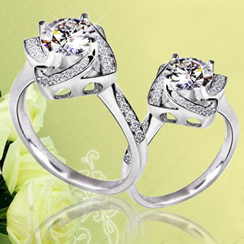 Compare Prices on Flower Shaped Engagement Ring Online Shopping