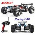 Envío gratis Wltoys 2.4 GHz 4WD RC Coche de Carreras de Control Remoto Juguete eléctrico Máquina de Alta velocidad Con 45 KM/H viechle Regalo para Boy