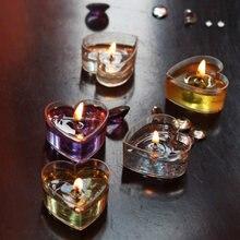 Пластиковые прозрачные чашки для чайных свечей 20 штук контейнеры