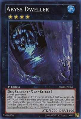 Yu Gi Oh  Original SR Abyss Lurker Abyss Perch A Brush