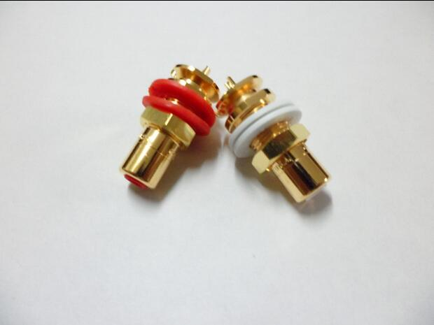 2pcs One Pair U.S. CMC 816 RCA terminals Amplifier RCA socket2pcs One Pair U.S. CMC 816 RCA terminals Amplifier RCA socket