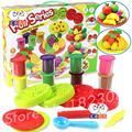 Fruits Series Pieces Color Play Dough Model Tool Toys Creative 3D Plasticine Tools Playdough Set