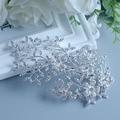 Ветки Haircombs Заколки Hairwear Свадебные Ювелирные Изделия Невесты Расческа Горный Хрусталь Без никеля Посеребренные Аксессуары Расчески